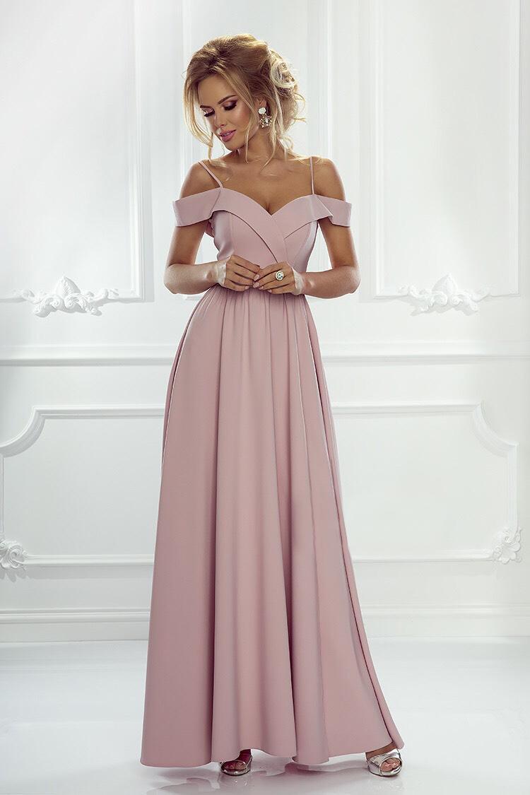 Spoločenské šaty elizabeth ružový púder veľ. m 2971d94c07