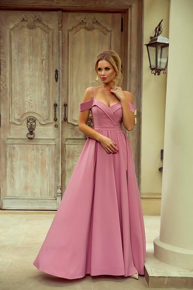 Spoločenské šaty elizabeth ružový púder veľ. m 442d21e793