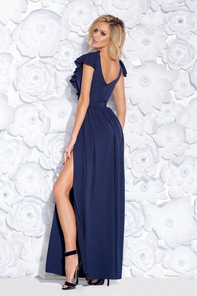 95193fc5c649 Spoločenské šaty maxine tmavomodré veľ. l