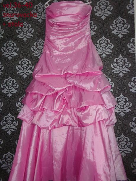 Ružové šatky v.35-40, 36