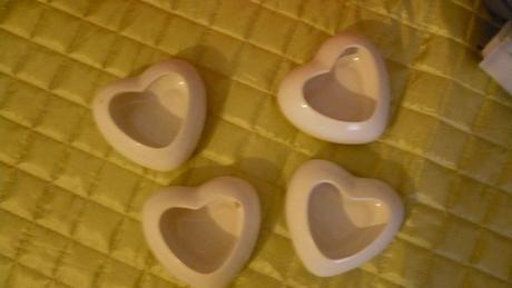 Dekorace srdce 4ks,