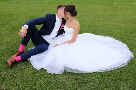 Tylové svatební šaty, 38