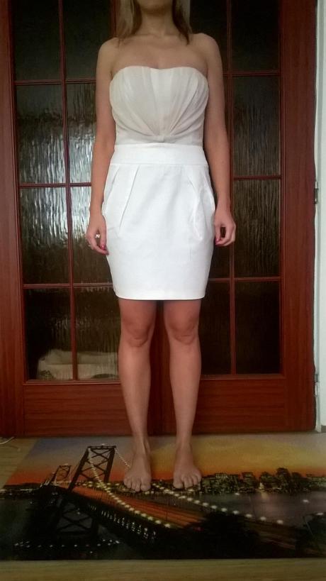 Společenské bílé šaty Orsay - popůlnočky, 38