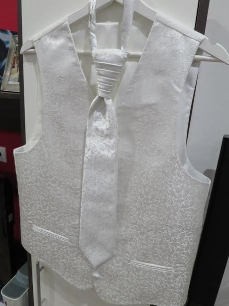 Svadobná vesta, kravata, vreckovka, 48