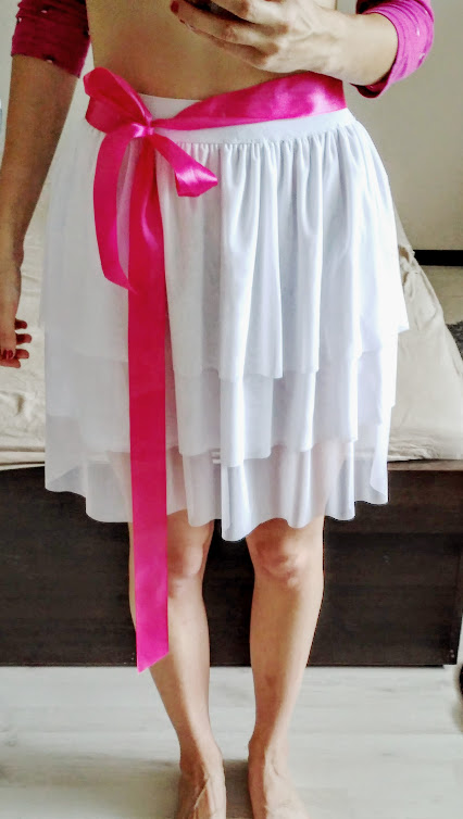 """""""Tutu"""" sukně s růžovou mašlí , 36"""