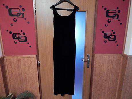 zamatové elastické šaty, L