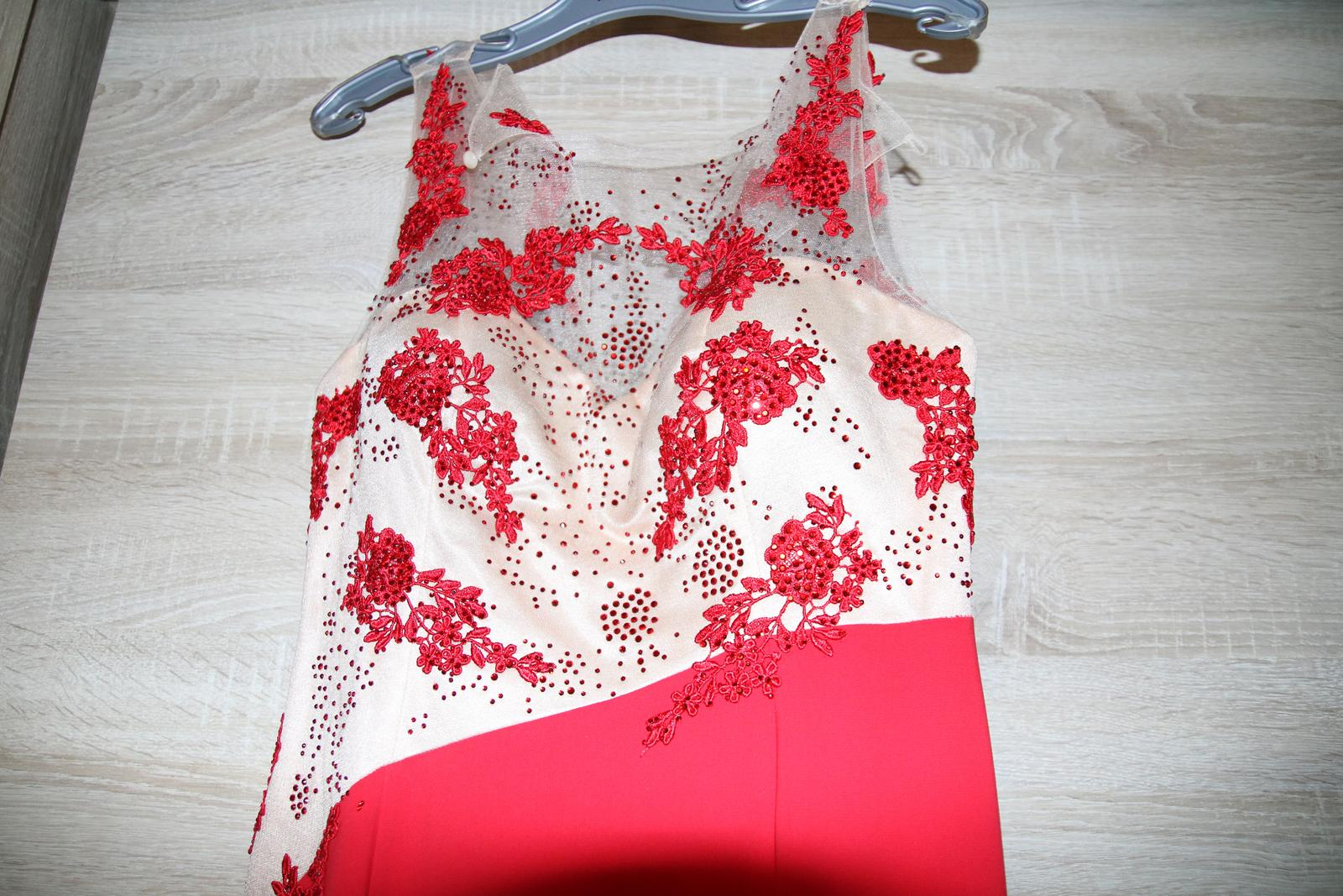 b09a5e5d6afe Dlhé červené spoločenské šaty značky piyamor