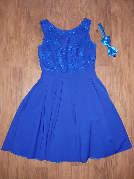 kráľovsky modré šaty, XS