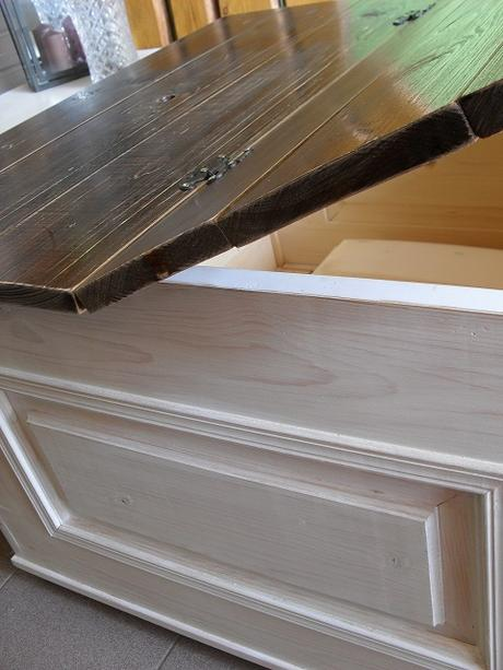 Konferenčný stolík blanc a teak patina + úložný.,