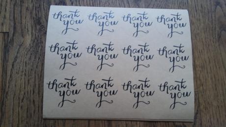 Samolepky Thank You,