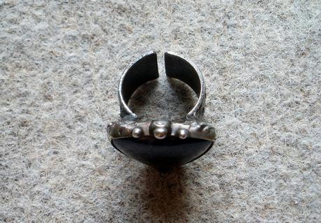 Nenosený prsteň - ametyst,