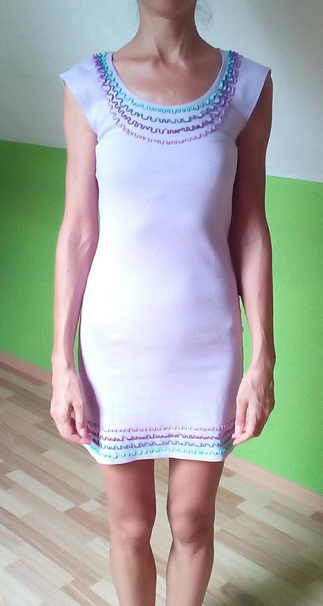 Svetlofialové šaty Jarosa, S