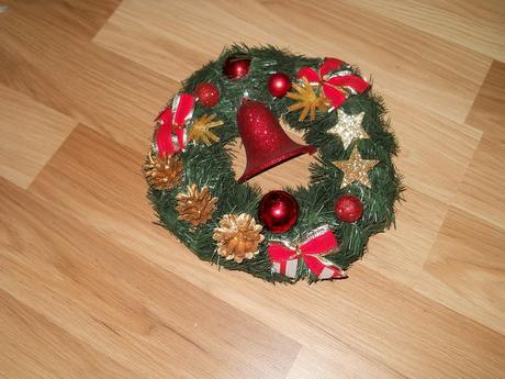 veniec vianočny nepouživany,