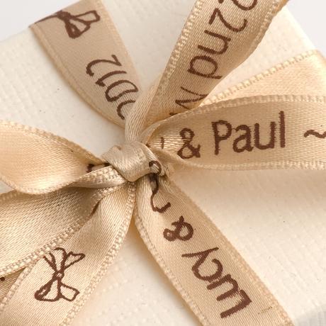 Stuha s menom a dátumom svadby - 10 metrov,