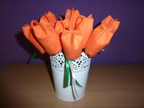 Látkové tulipány,