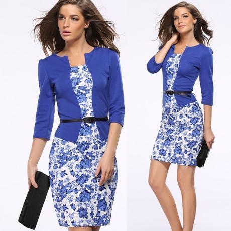 společenské šaty s páskem, XXXL