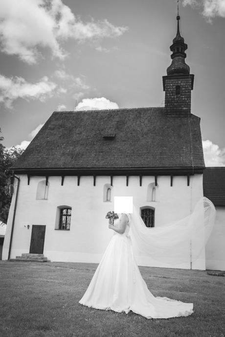 Svadobné šaty + spodnicka + zavoj , 38