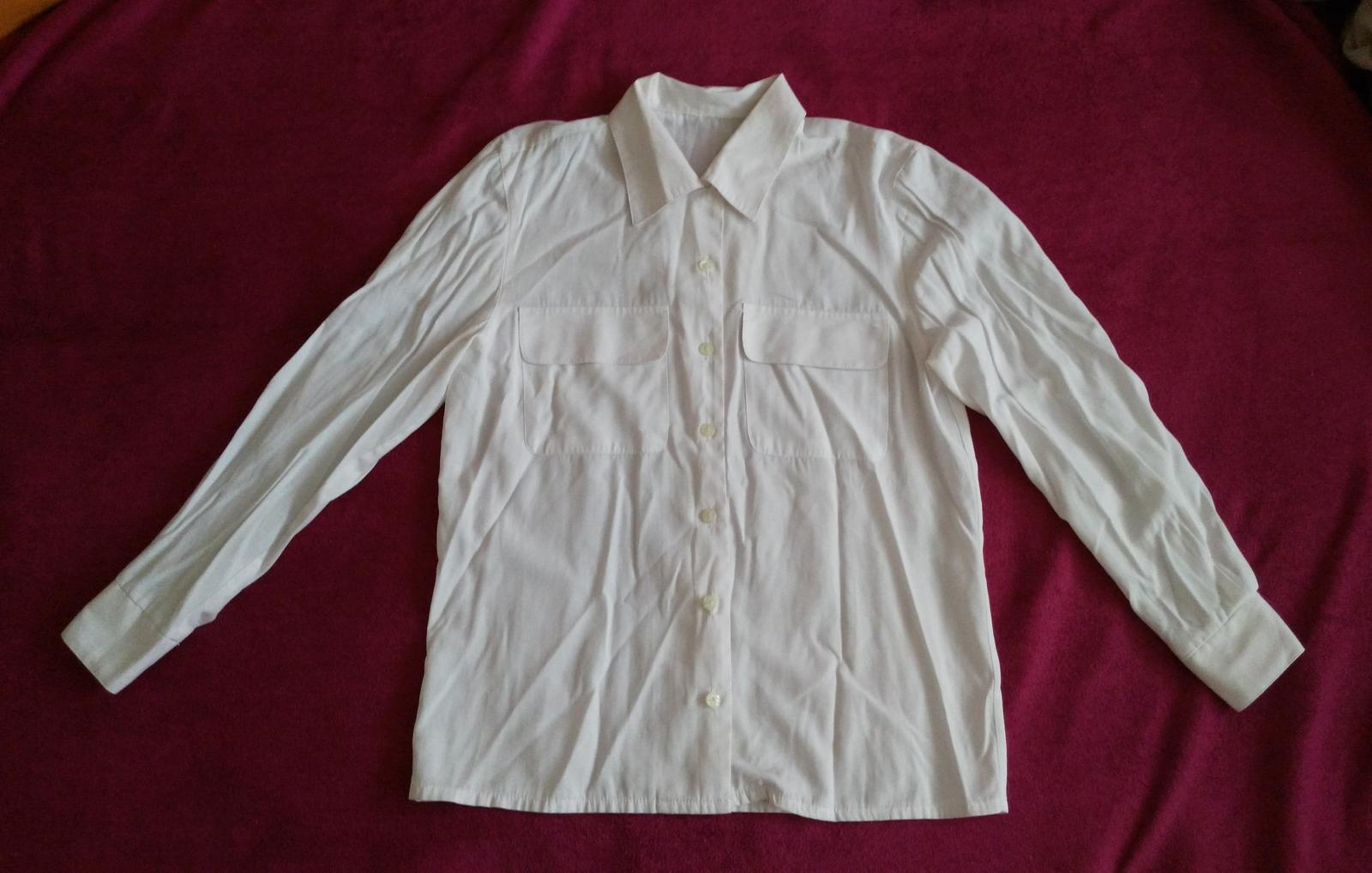 c9263299fe17 Biela dámska košeľa 40 l