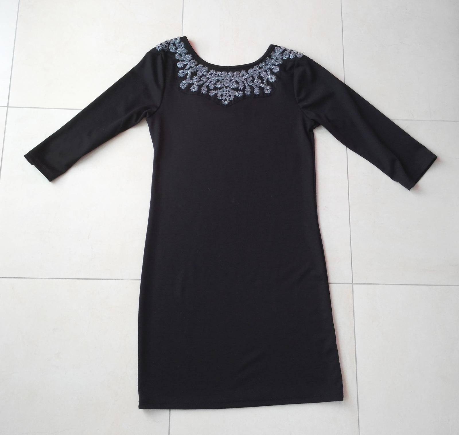 882c9a4f76df Čierne elegantné elastické šaty 38(m)
