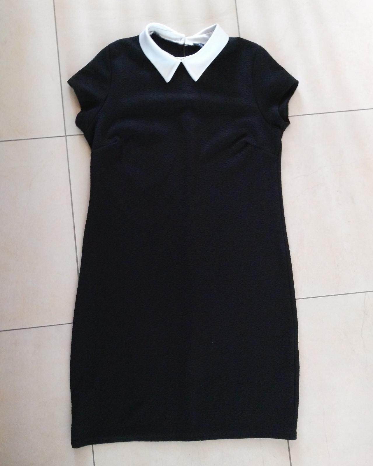 1529c919413a Čierne teplejšie šaty 40 l