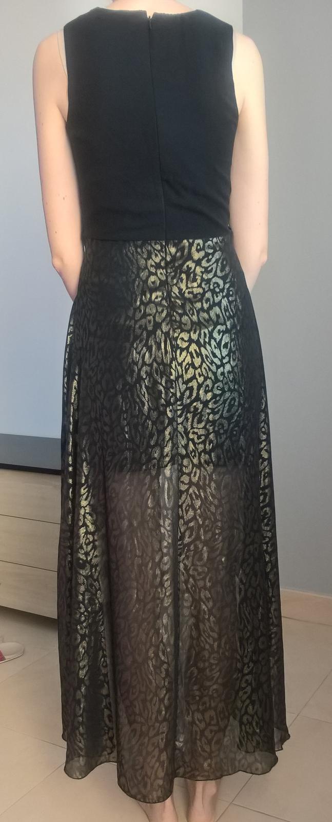 Čierno zlaté spoločenské šaty č. 36 - 38 de2b4000698