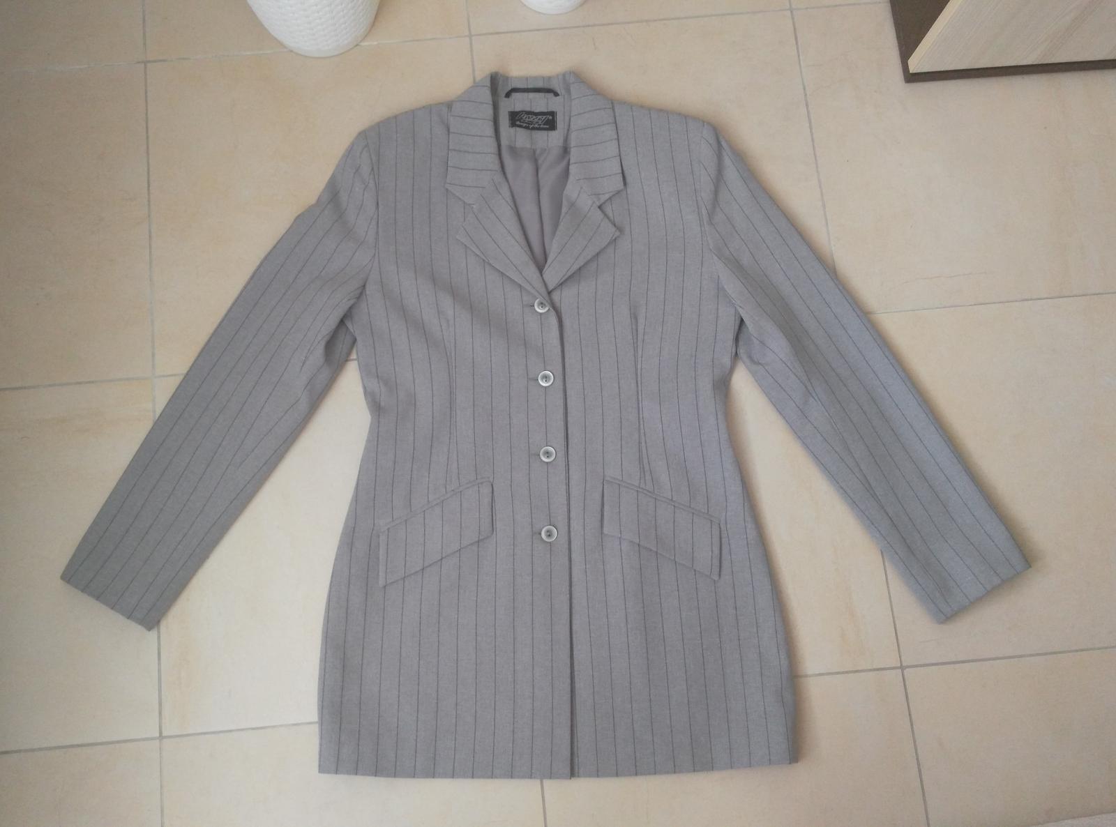 Šedý kostým sako + nohavice 38 m b533174cf73