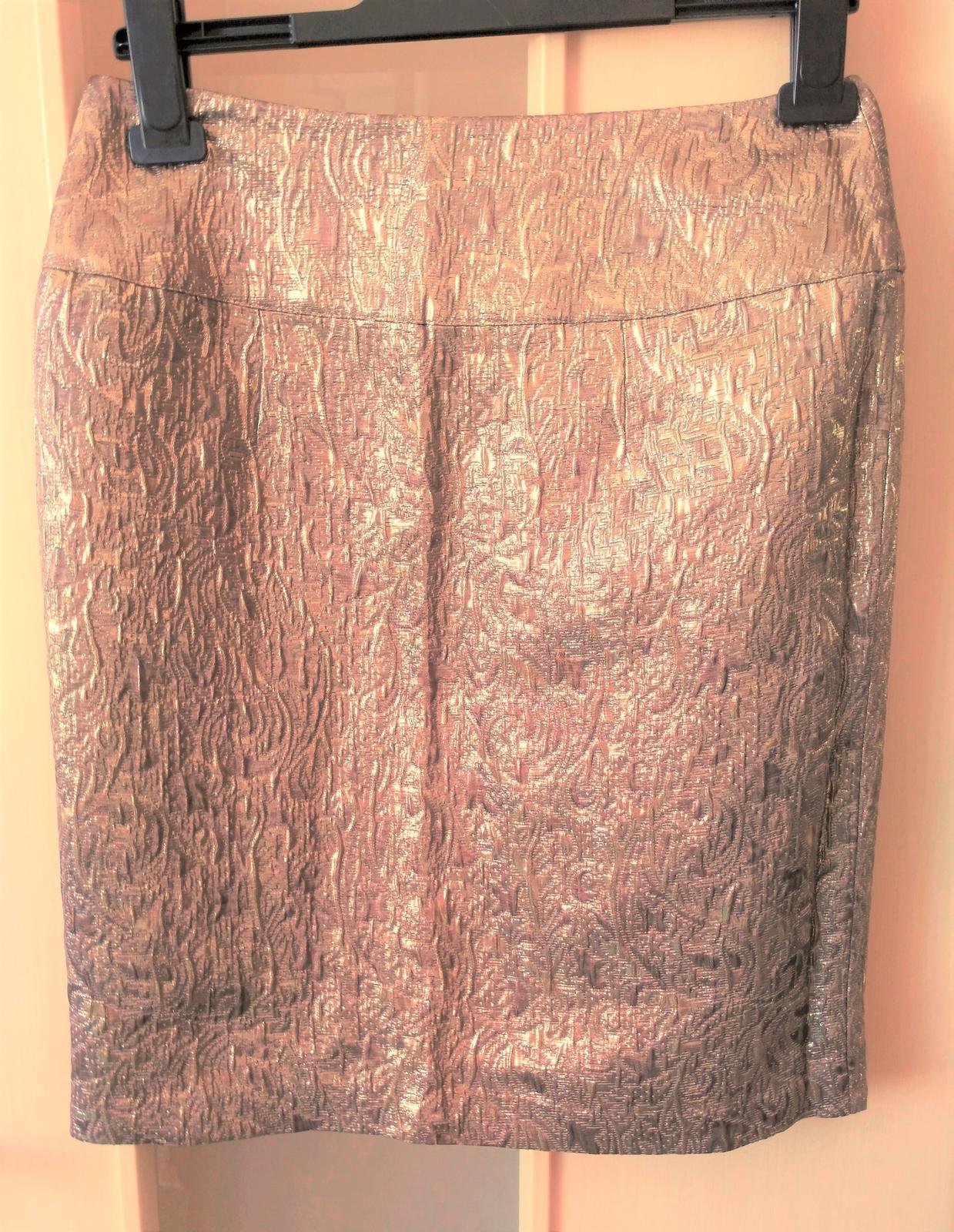 7585c280e7f8 Zlatohnedá elegantná sukňa č.36 (s)