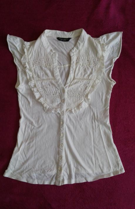 Biela bavlnená blúzka 38/M, 38