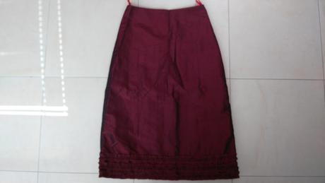 Bordová elegantná sukňa č. 38/M, 38
