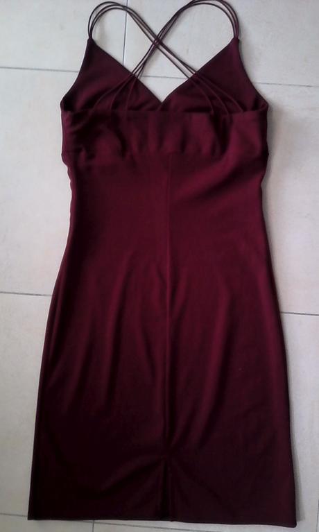 bordové elegantné / letné šaty č. 38-40, 38