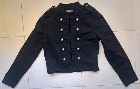 Čierne army sako č. 38, 38