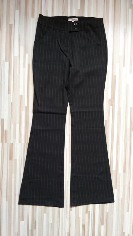 Čierne elegantné nohavice 38/M, 38