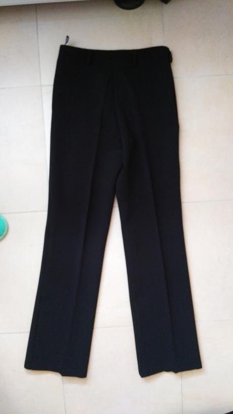 Čierne teplejšie elegantne nohavice 38/M, 38