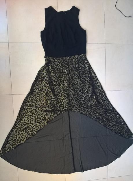 čierno zlaté spoločenské šaty č. 36 - 38, 38