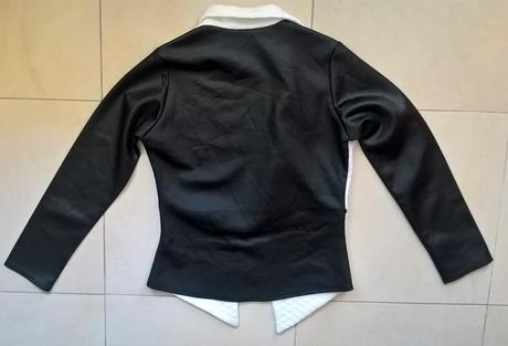 čiernobiele elegantné sako č. 38 - 40, 38