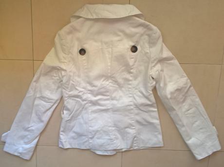 dámske biele sako / kabát č.38, 38