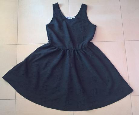 Dievčenské / dámske elegantné čierne šaty, 164