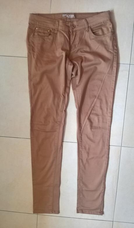 elegantné hnedé nohavice č. 38, 38