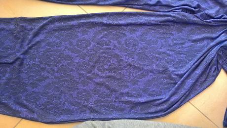 fialový overal s čipkovaným vzorom č. 38, 38