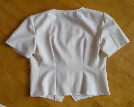 Krémová blúzka + sukňa 40 (M), 40