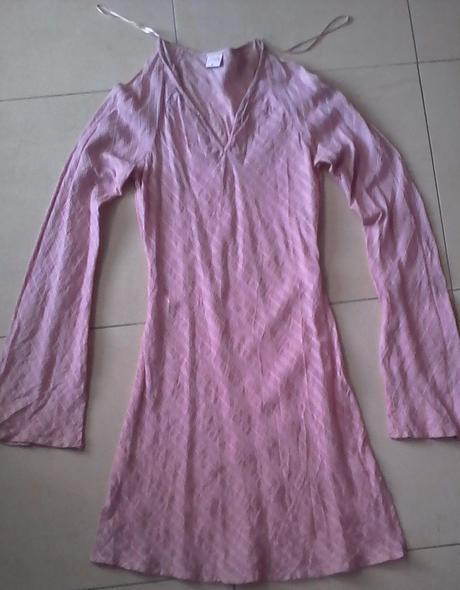 ružová bavlnená tunika / šaty č. 36, 36