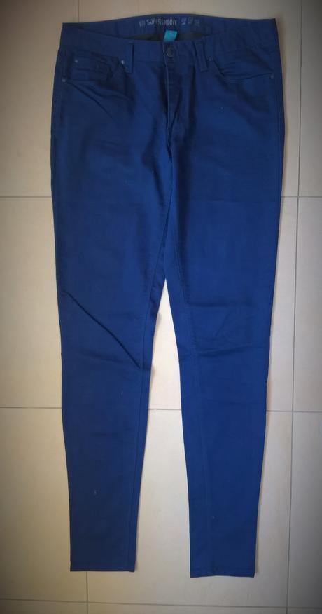 tmavomodré elegantné nohavice č. 38, 38