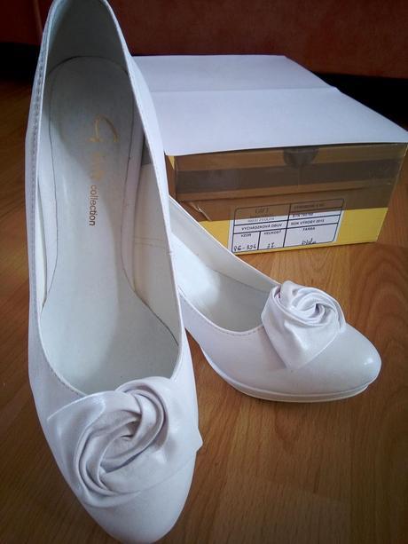 Biele svadobné lodičky - 37, 37