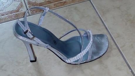 Stříbrné páskové botky, 36