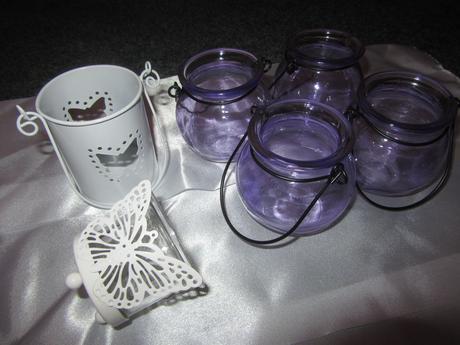 Lucerničky lila, bílá,