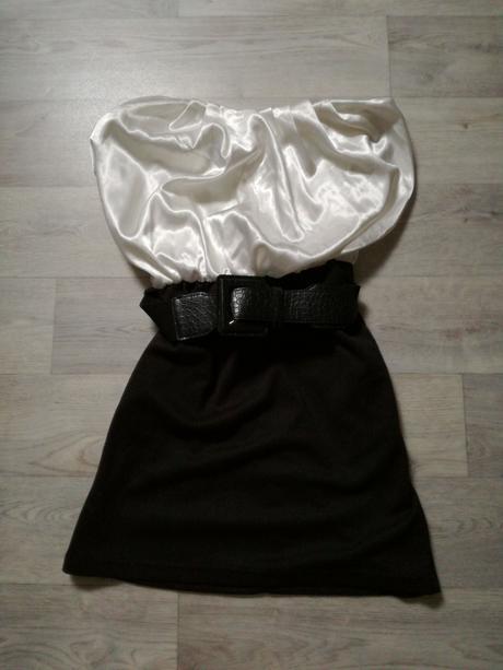 Černobílý top nebo šaty, 38