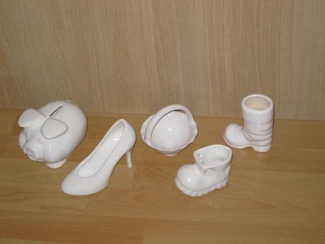 Biela keramika 5 ks - cena spolu,