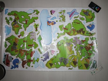 Detská mapa sveta ,