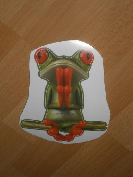 Nálepka žabka na hladký povrch,