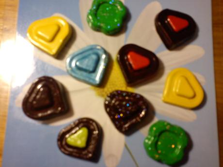 Srdiečka a štvorlístky- magnetky,